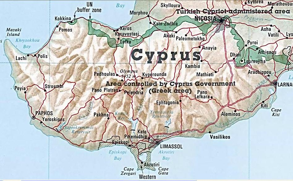 Kort Over Vest Cypern