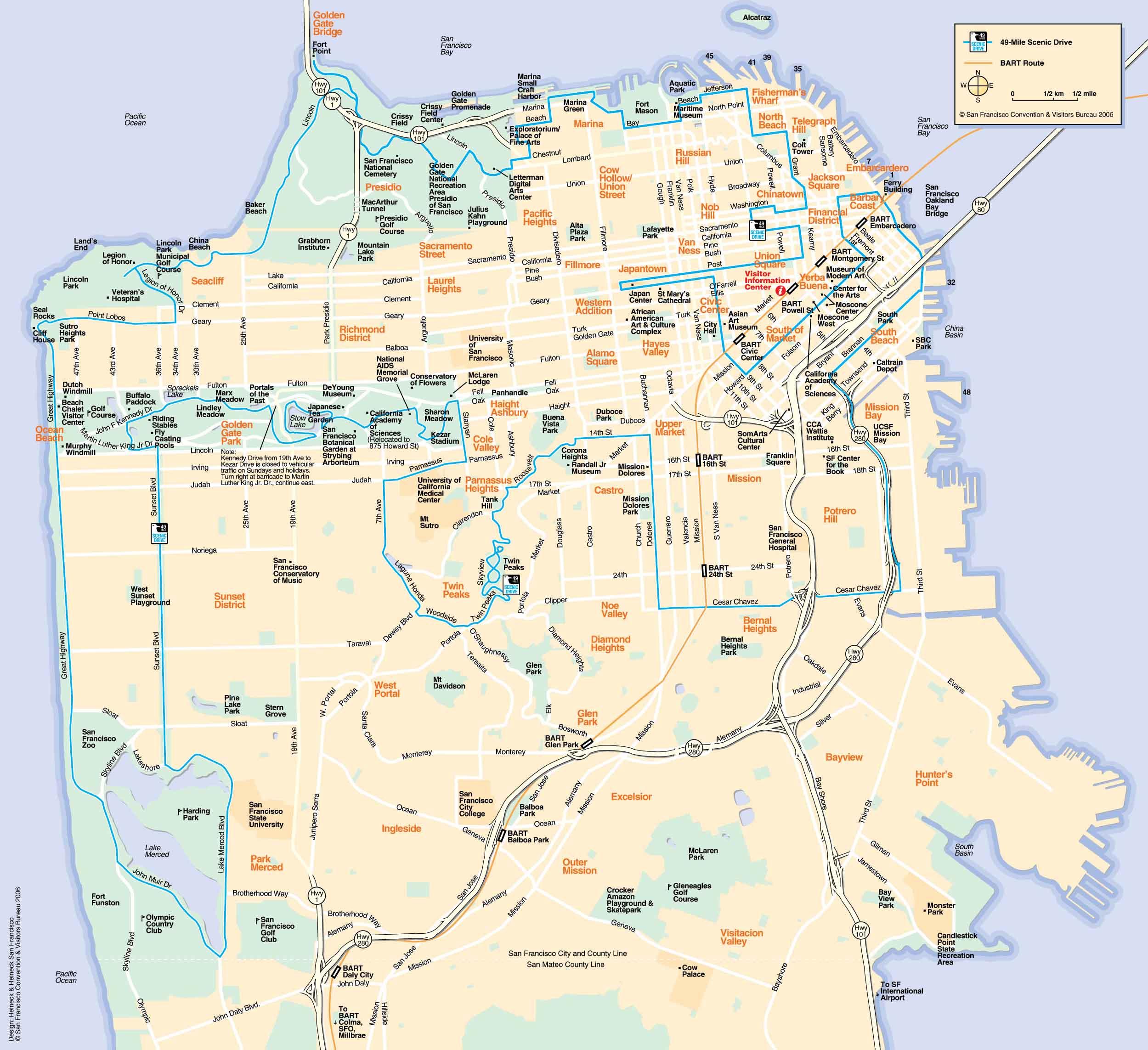 Detaljeret Kort Over Hele San Francisco